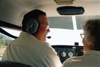 Gordon and Nancy flying together for fifty years